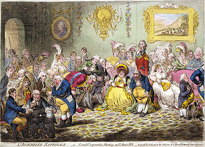 L'Assemblee Nationale 1804 James Gillray print