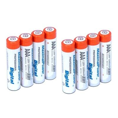 8-Pack MaximalPower™ Rechargeable NiMH AAA 1200mAh 1.25v with Free battery case