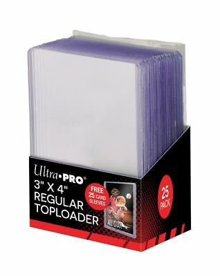 Combo Pack (25) Each Ultra-Pro Topload Card Holders / Soft Sleeves Toploaders