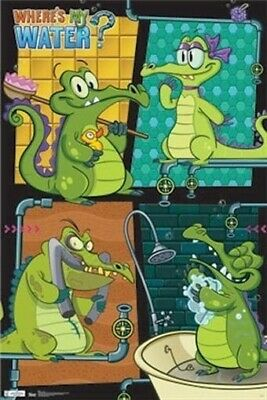 WHERE'S MY WATER? ~ SWAMPY BATH ~ 22x34 VIDEO GAME POSTER App Alligator