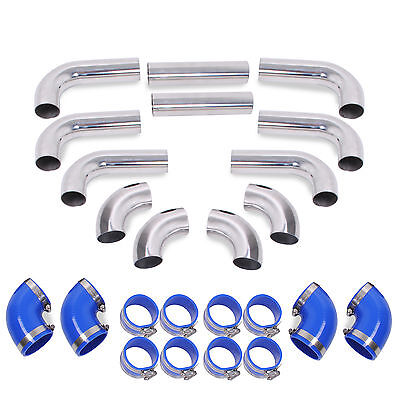 Alloy Fmic Front Mount Intercooler Hard Pipes For Honda Civic Integra Type R