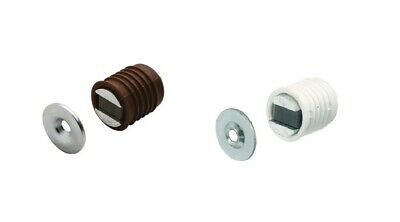 Magnetic Catch Morticed 2.5-3.5Kg  White or Brown Cabinet Cupboard Door Catches