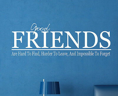 Good FRIENDS Are Hard To Find Home Decor Vinyl Wall Art Decal FR012