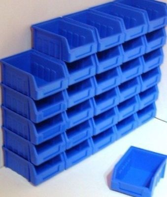 60 Size 1 Blue Parts Storage Stacking Bin Bins Box