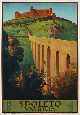 TV40 Vintage 1927 Spoleto Perugia Italy Travel Poster Re-Print A1 A2 A3