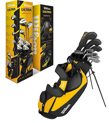 WILSON ULTRA Complete Package Right Handed Mens Golf Club Set w/ Bag - WGGC25000