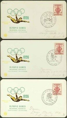 Australia 1956 cards, Olympics cancels COMPLETE (x52)