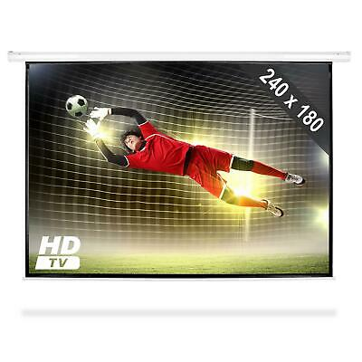 "240 x 180 CM ROLLO BEAMER VIDEO LEINWAND 120"" HDTV BEAMERLEINWAND WM EM HEIMKINO"