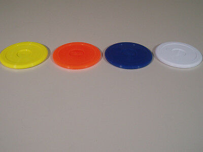 2 x 80 mm FLUORESCENT AIR HOCKEY PUCKS IN VARIOUS COLOURS