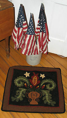 """Amazing Hand Hooked Wool Rug ~ """"1831 Antique Floral"""""""