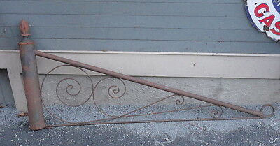Antique Cast Iron Trade Sign Hanger  or ornate garden  gate Pickup Seattle area