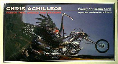 Chris Achilleos Fantasy Art Trading Cards Signed Numbered 10-Card Sheet/1994 FPG