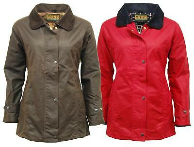 D42 New Womens Antique Wax Fitted Jacket Coat