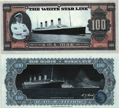 White Star Line Titanic 100Th Anniversary Fantasy Art Bill Plus Bonus Package!