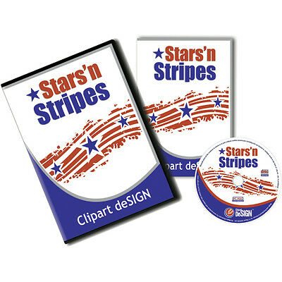 Patriotic-Star-Stripes Vinyl Cutter Plotter Images-Vector Clip Art Cd