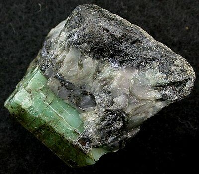 Emerald Crystal In Host Specimen Gem Stone Gemstone #6