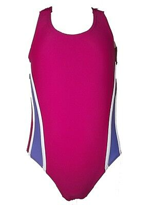 LOVELY NEW GIRLS SWIMMING COSTUME / SWIMSUIT PINK / LILAC ~ SCHOOL 2 - 13 years