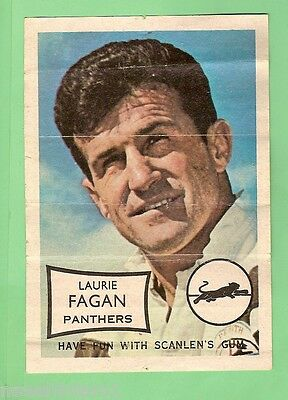 1970 Scanlens Mini Poster - Laurie Fagan, Penrith Panthers