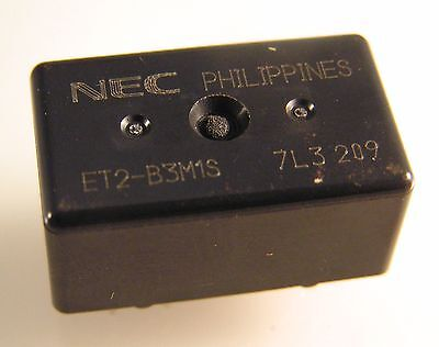 NEC ET2-B3M1S PCB Mount Relay 12VDC Coil 25A Contacts SPDT (1 Form C) OM348