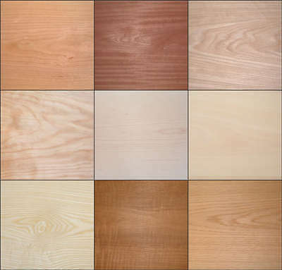 """Iron On Real Wood Veneer Pre Glued Sheets Choice Of Two Sizes 100""""x10""""or 50""""x10"""""""