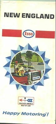 1968 Esso New England Vintage Road Map