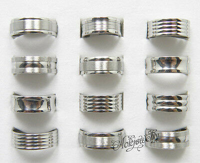 Wholesale Jewelry Lots 50pcs Elegant Stainless Steel Fashion Rings