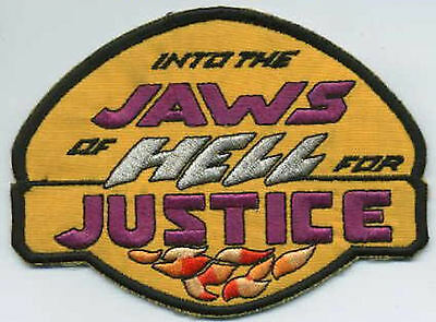 """Space Rangers  Embroidered Iron-On Patch - - """"Into the Jaws of Hell For Justice"""""""