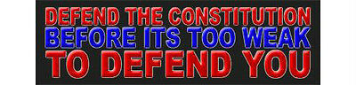 Defend the Constitution Republican Right Wing Sticker Decal DC 696