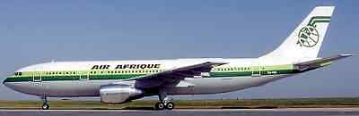 A-300 Air Afrique Africa Airbus Airplane Mahoagany Kiln Wood Model Large New