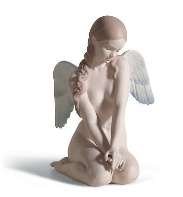 Lladro #18235 Beautiful Angel Brand Nib Matte Finish Woman $100 Off Free Shiping