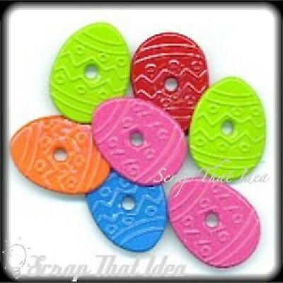 EASTER EGGS  Eyelets. X-Lrg.  20pcs.  Brights.  Scrapbooking / Cardmaking