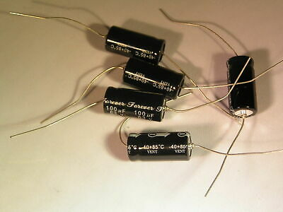 Electrolytic Capacitors 100uf 63v  Axial 5 pieces OL0151