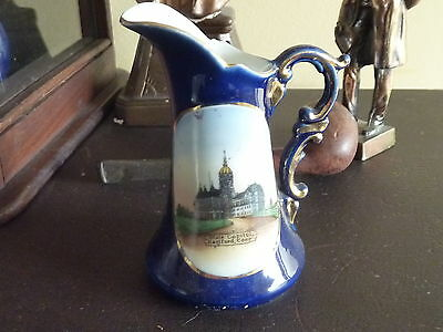 """c1890-1900 SOUVENIR china State Capitol HARTFORD CONNECTICUT made in Germany 4""""h"""