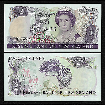 New Zealand P-170b ND(1981-92) 2 Dollars Crisp Uncirculated