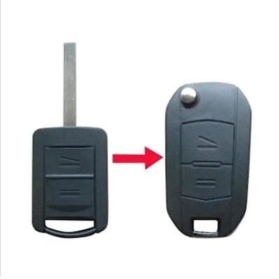 RFC 2 button flip key case upgrade for Vauxhall Opel Corsa C Tigra remote HU100