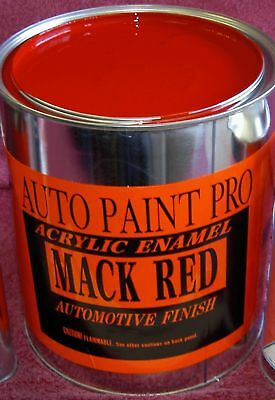 Mack Red acrylic enamel single stage auto body shop restoration car paint