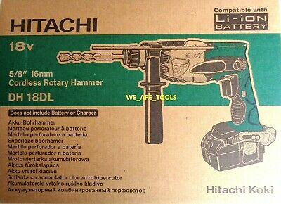 NEW IN BOX Hitachi DH18DL Cordless 18V SDS Hammer Drill 18 Volt Hammerdrill