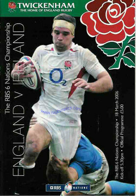 ENGLAND v IRELAND 2006 RUGBY PROG TRIPLE CROWN IRELAND
