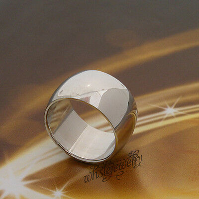 Wholesale Lots 12pcs 12mm Width Stainless Steel Smooth Thumb Rings