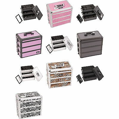 Professional Makeup Cosmetic Case 3n1 Stackable Box Divider Upgradable Lockable