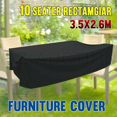 Outdoor Rectangular 600D Polyester Waterproof 10 Seater Furniture Cover