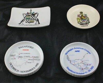 Lot of 4 Coasters Dishes Norwegian Cruises Sagafjord Canada Rosenthal I2O27