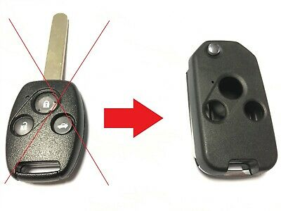 3 button flip key case upgrade for Honda Accord Civic Jazz CRV remote key
