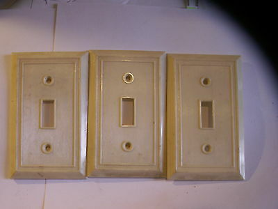 vintage old antique switch plate outlet covers rare neat fancy pattern style