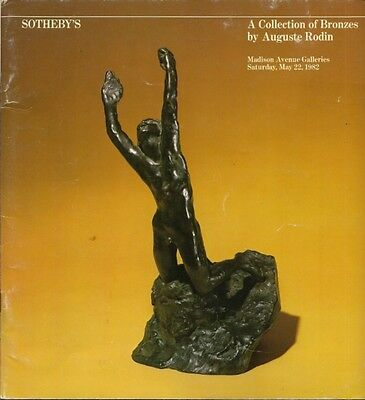 RARE - SOTHEBY'S Auguste Rodin Bronze Sculpture Collection Auction Catalog 1982