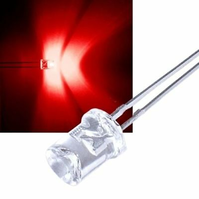 50 concave ROTE Leds 5mm / tief rot red rouge rojo rosso rood konkav Led konkave