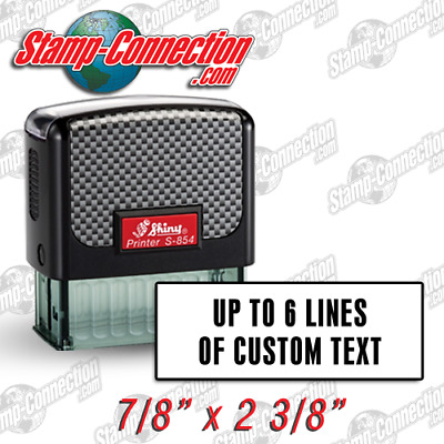 Shiny 854 (Ideal 100 Size) 4, 5 or 6 Line Self-Inking Stamp
