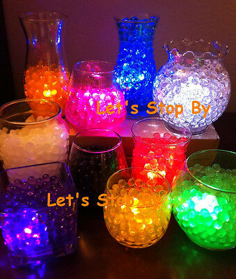 400g Water Bead Pearl+ 48 LED Submersible Wedding Waterproof Floral Decor Light