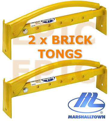 "2 x MARSHALLTOWN 16""/40CM Adjustable Brick Tongs Clamp Carrier Lifter M88, TWO!"