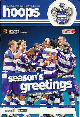 QUEENS PARK RANGERS v WATFORD 28 Dec 2008 FOOTBALL PROGRAMME